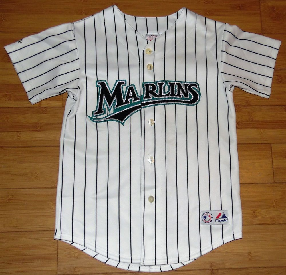8d70b044211 ... where to buy florida marlins mlb baseball carlos delgado youth majestic  brand jersey size m majestic