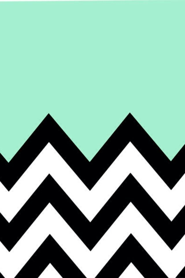 Mint Green Black And White Chevron Background Iphone 5 Wallpaper Cool Pattern