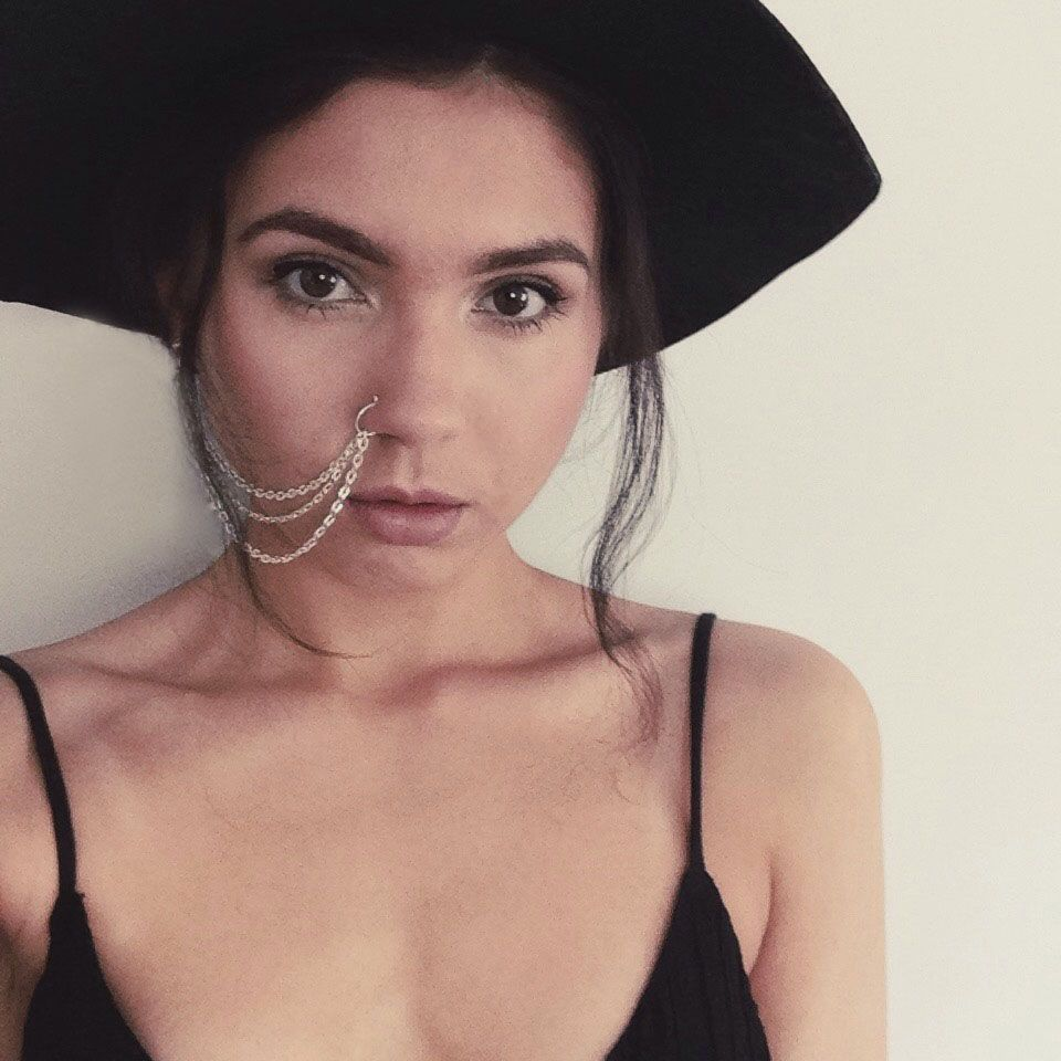 Piercing nose with ring  nose chain  Nose Chains  Pinterest  Chains Ring and Body jewellery