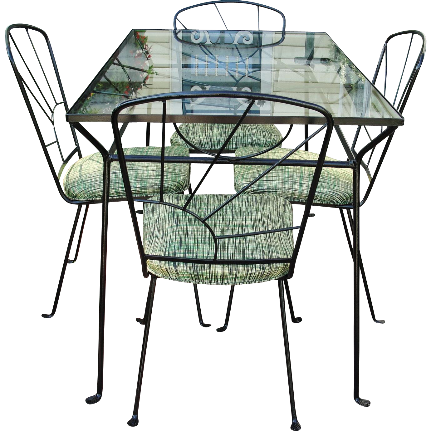 Mid Century Modern Wrought Iron Patio Set (With images ...
