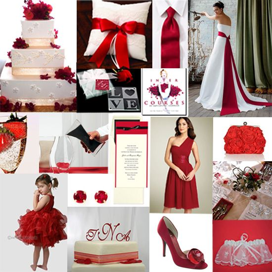 wwedding theme colors for september modern red wedding theme ideas