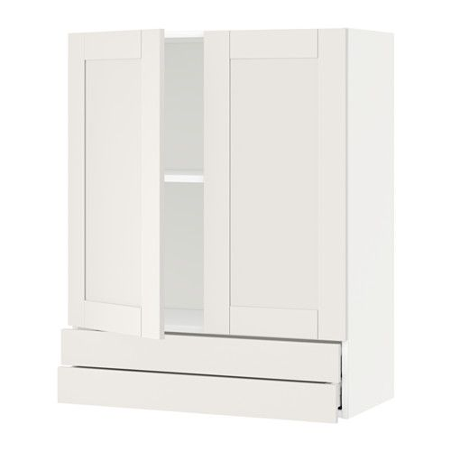 Metod Wall Cabinet W 2 Doors 2 Drawers White Hittarp Off White Ikea In 2019 Products Ikea Wall Cabinets Kitchen Cabinets Cabinet