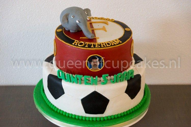 Outstanding Feyenoord Olli Taart Taart Voetbal Taart Baby Cake Birthday Cards Printable Opercafe Filternl