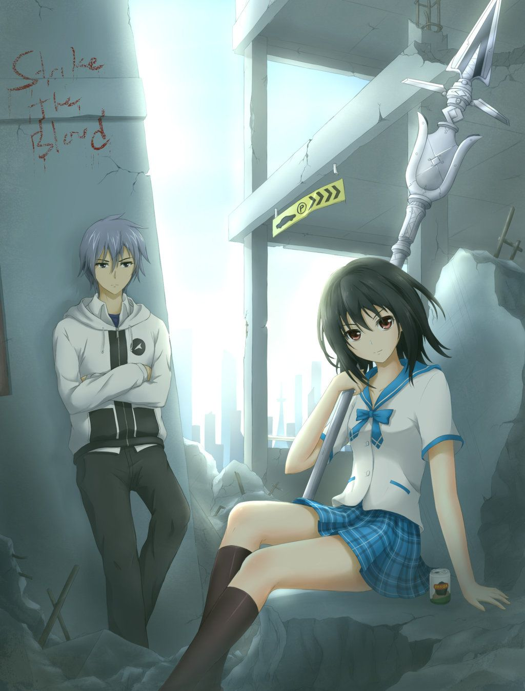 Kojou & Yukina Strike the Blood Strike The Blood