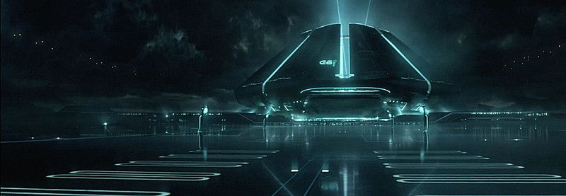 Alien Spaceship Background Banner Decoration Tron Legacy Tron Game Design