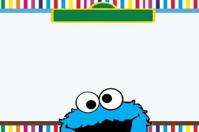 cookie monster invite template - Google Search | Monster ...