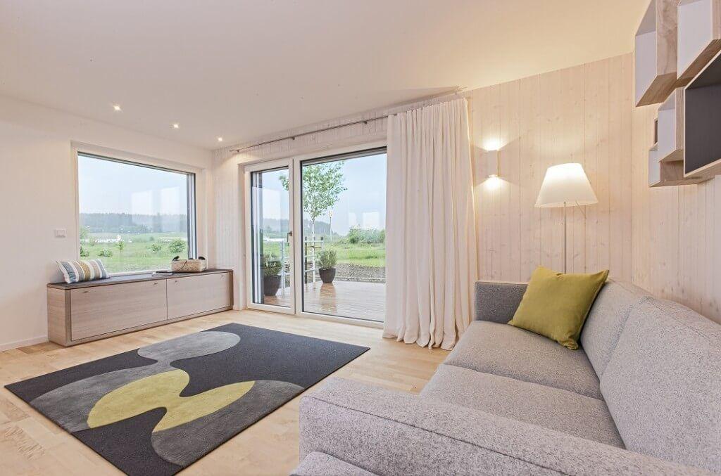 Wohnzimmer Einrichtung moderner skandinavischer Landhausstil