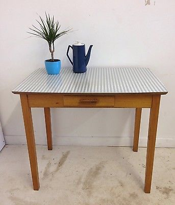 small vintage retro mid century gingham formica top kitchen dining