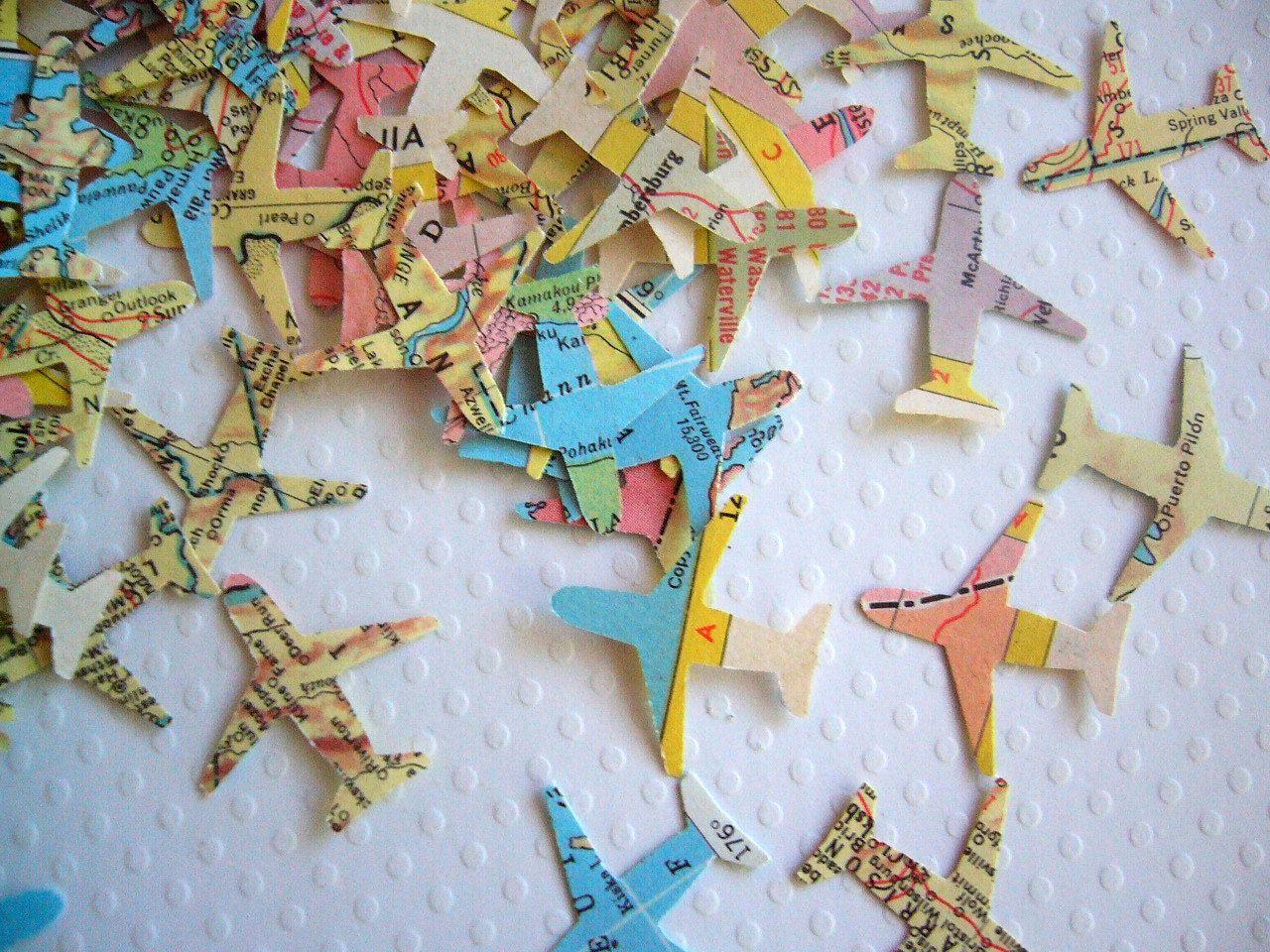 Gli aeroplani coriandoli Atlas Vintage bomboniera di ddeforest