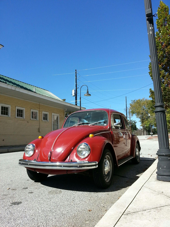 My Wife S 1969 Vw Beetle Automatic Stickshift Sedan Poppy