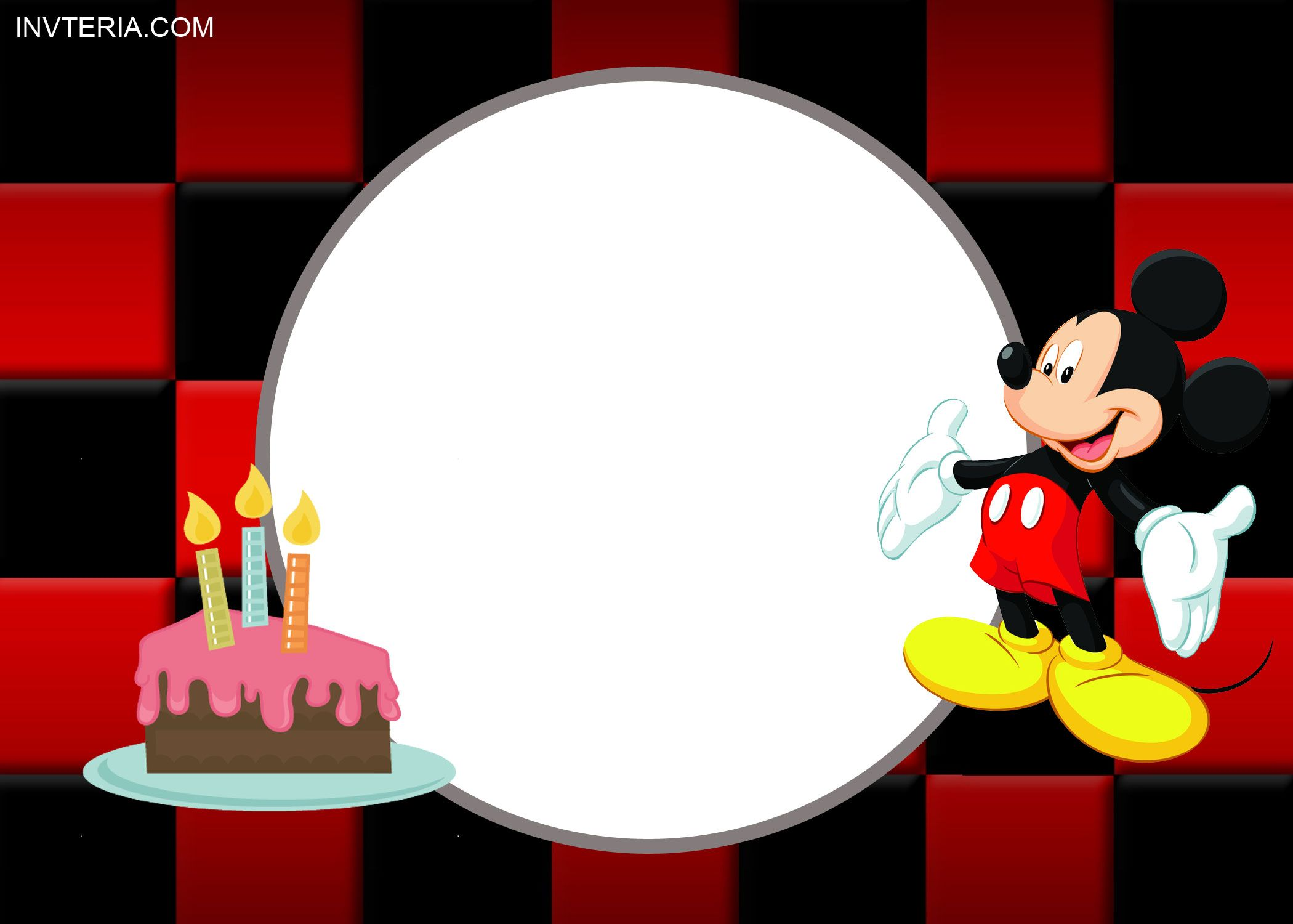 NICE FREE PRINTABLE MICKEY MOUSE BIRTHDAY INVITATIONS IDEA ...