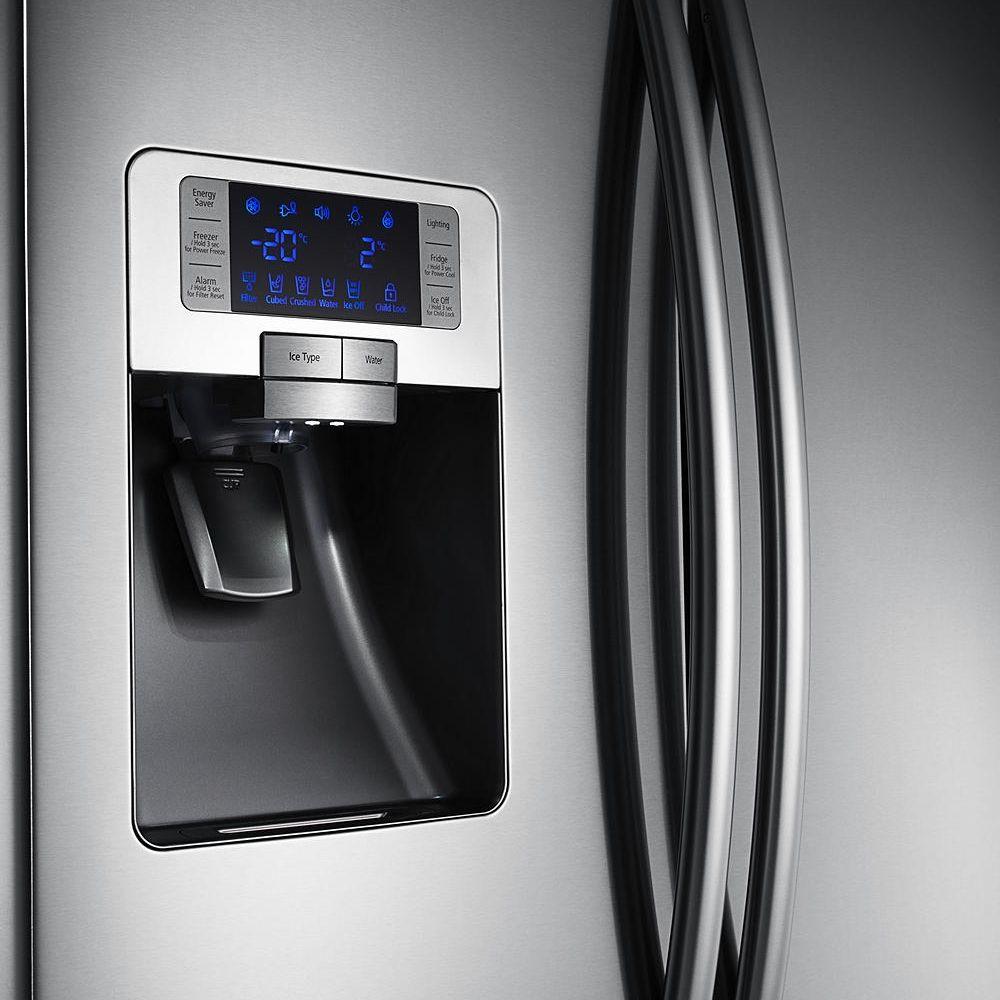 Samsung rfg23uers french style fridge freezer with ice