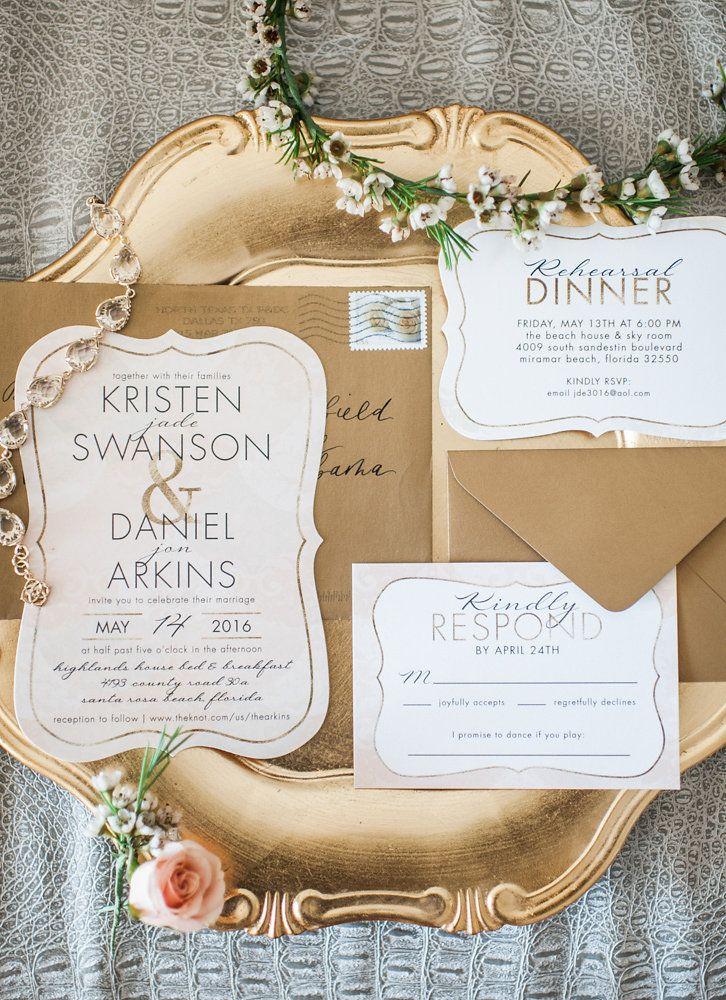 Santa Rosa Beach Wedding | Weddings, Wedding invitation paper and ...