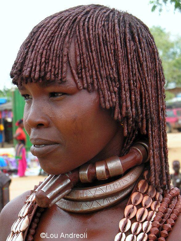 Hamar-vrouw - (Turmi, Zuid-Ethiopië)   ©Lou Andreoli
