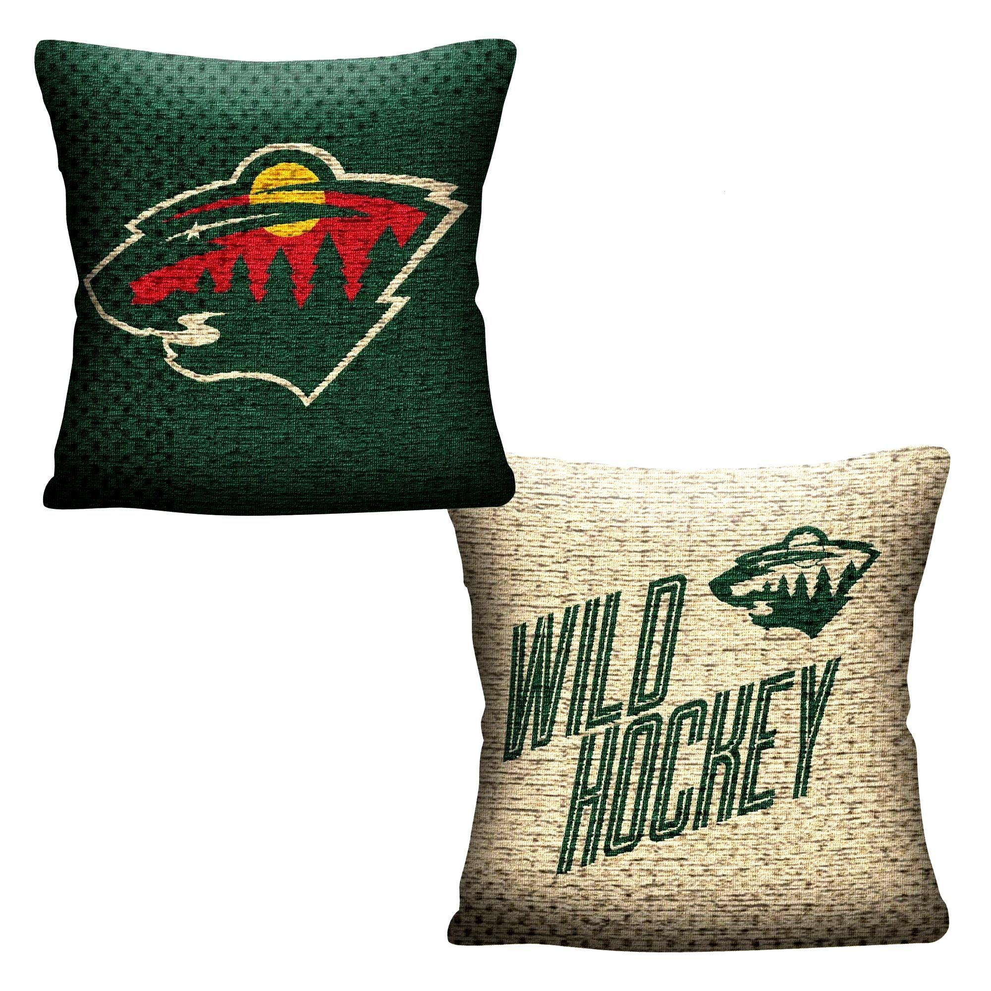 NHL Minnesota Wild Inverted Woven Pillow :  NHL Minnesota Wild Inverted Woven Pillow