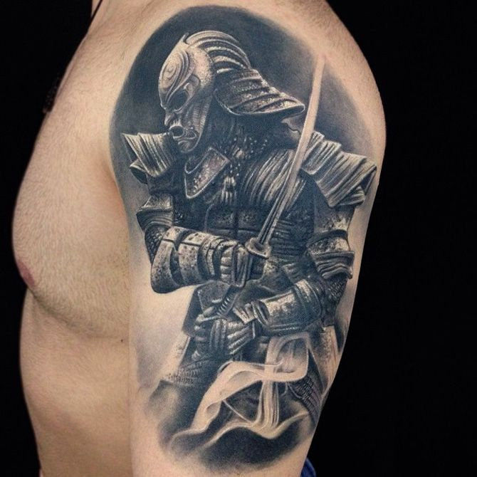 Samurai Warrior Leg Tattoo | Best tattoo design ideas | Quarter sleeve  tattoos, Tattoo sleeve designs, Samurai tattoo