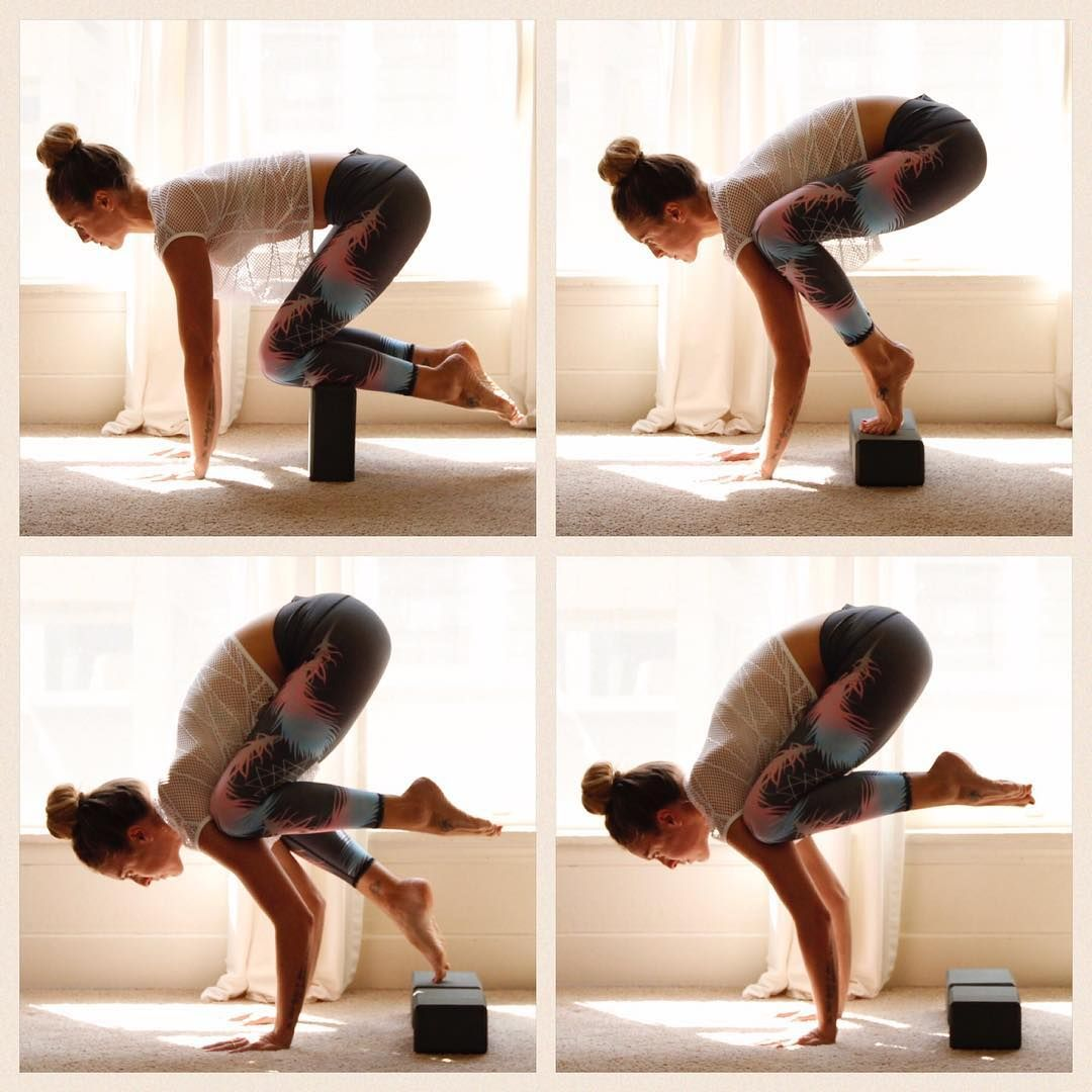 Crow Pose Yoga Block