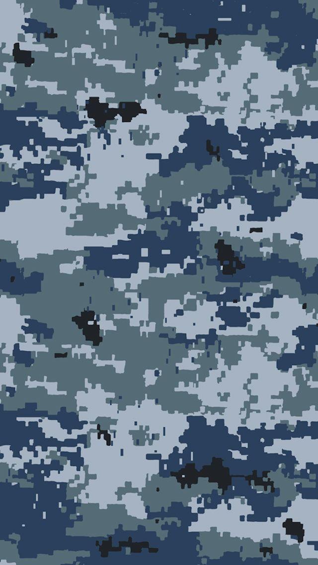 Military Blue Navy Camo