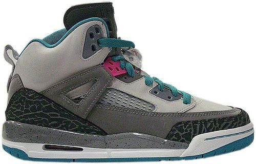 Discount Authentic 317321-063 Womens Nike Air Jordan Spizike Shoes Neutral Grey/Vivid Pink-Cool Grey-Turbo Green