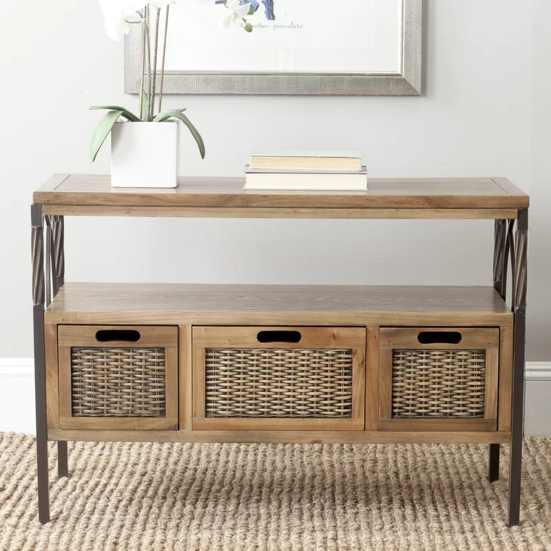 Noah 36 Solid Wood Console Table Wood Console Table Console