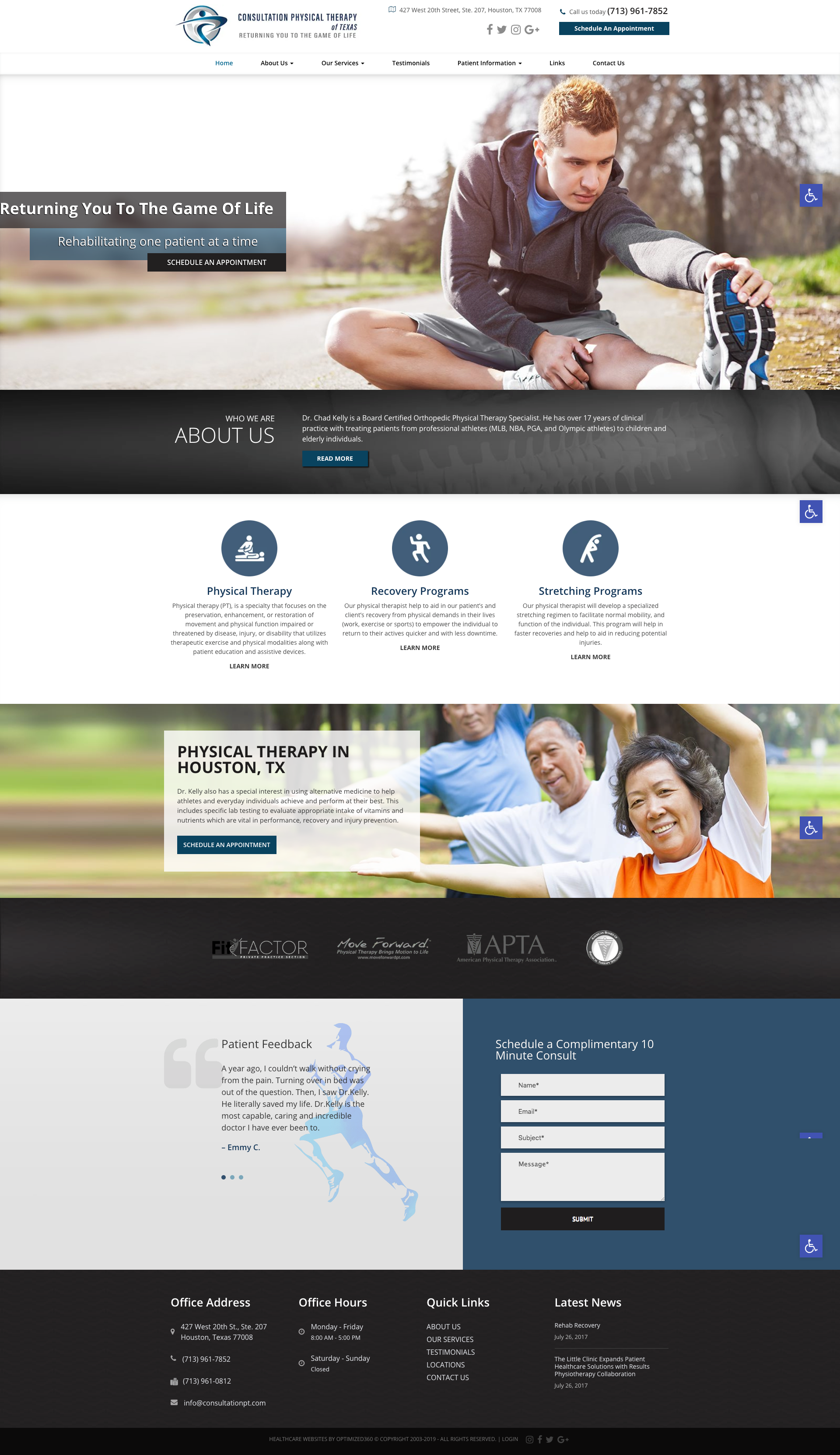 Just Like Physical Therapy We Wanted To Engage Site Visitors With Hands On Interaction The Drop Down N In 2020 Therapy Website Design Physical Therapy Therapy Website