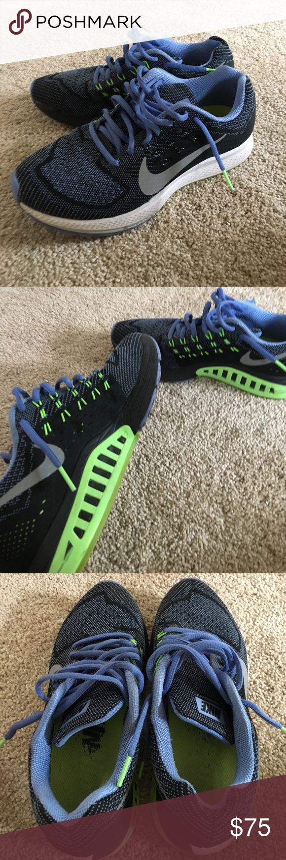 Nike Zoom Structure 18 Running Shoe Great used condition, very little signs  of wear.