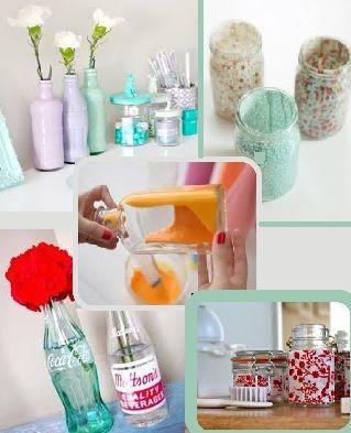 Decora tu ba o con tarros de cristal el blog de - Decoracion con cosas recicladas ...
