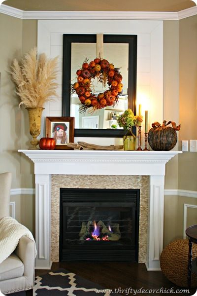 Home Fall Decoration Inspiration Mantels Decorating and Mantle