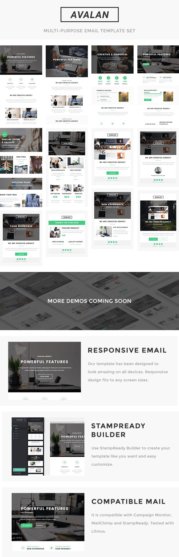 Avalan - Responsive Email Set | Viral marketing, Template and ...