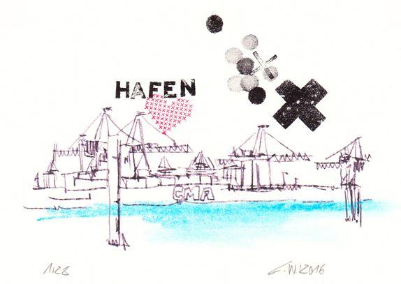 Künstler Hamburg postcards of hamburg titel hafenliebe künstler christian