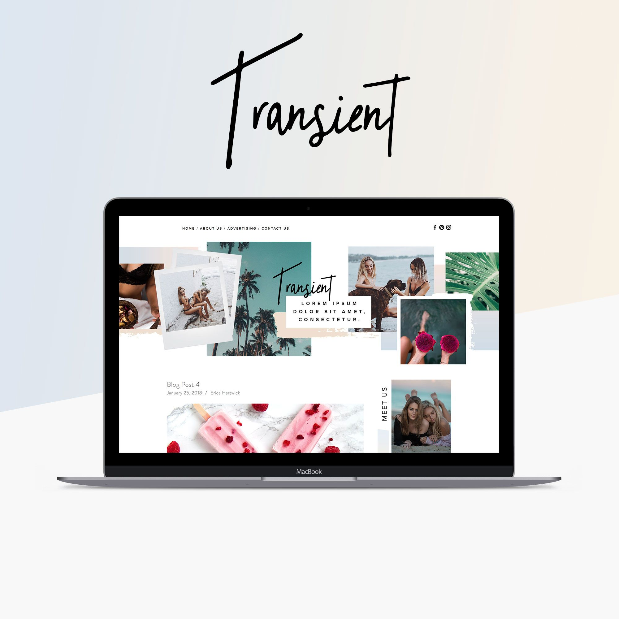 Transient Squarespace Website Template By Big Cat Creative With