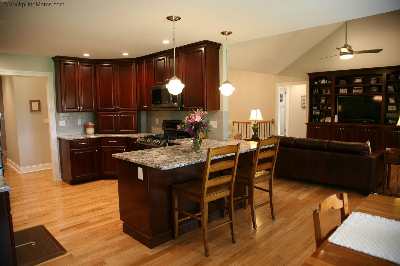 Kitchen Design Dark Cherry and Black Stainless