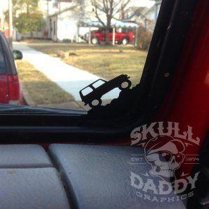 Jeep Wrangler Tj Corner Climbing Jeep Decal Sticker Jeep