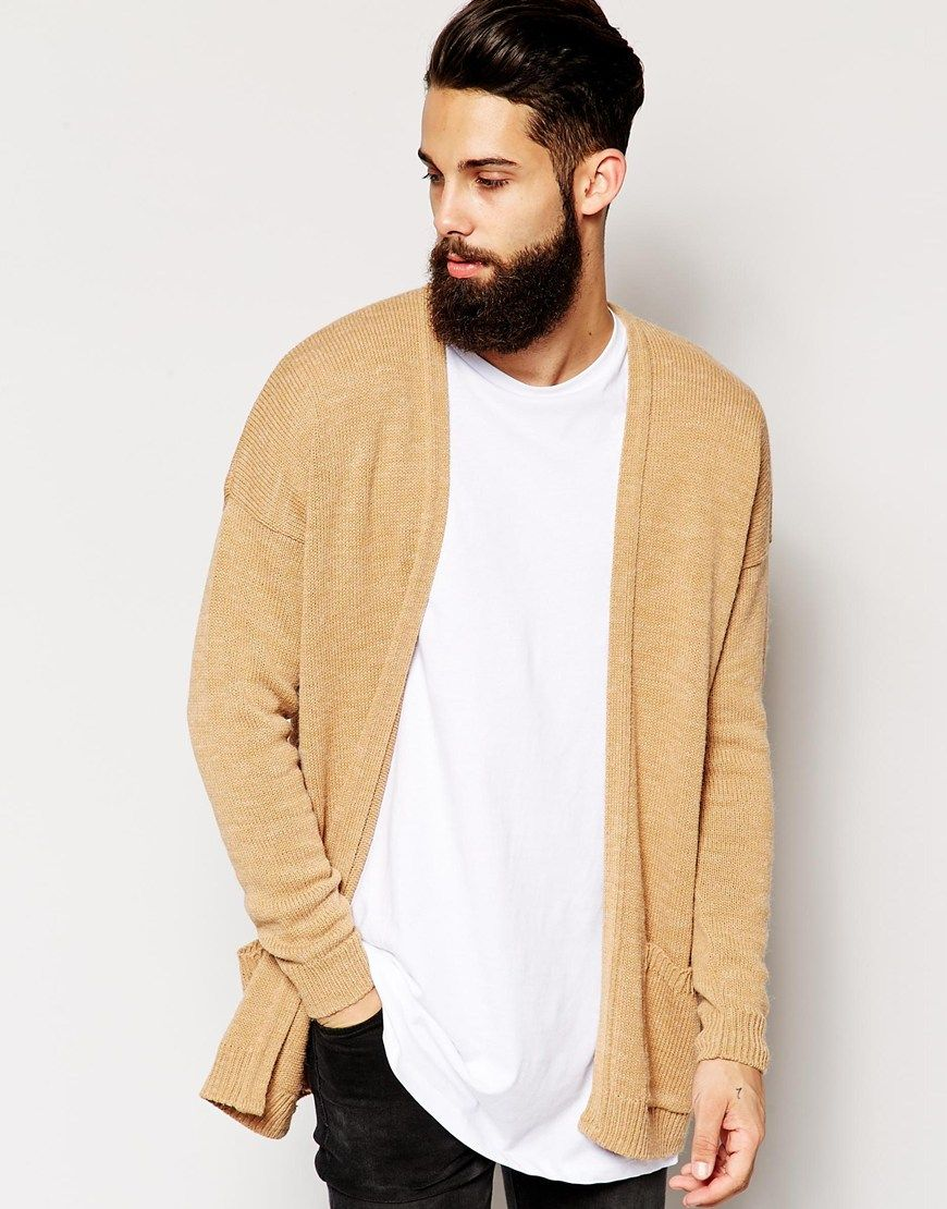 ASOS Longline Cardigan in Brushed Texture | Kıyafet / Clothing ...