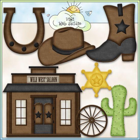 Wild, Wild West 1 - Exclusive Clip Art