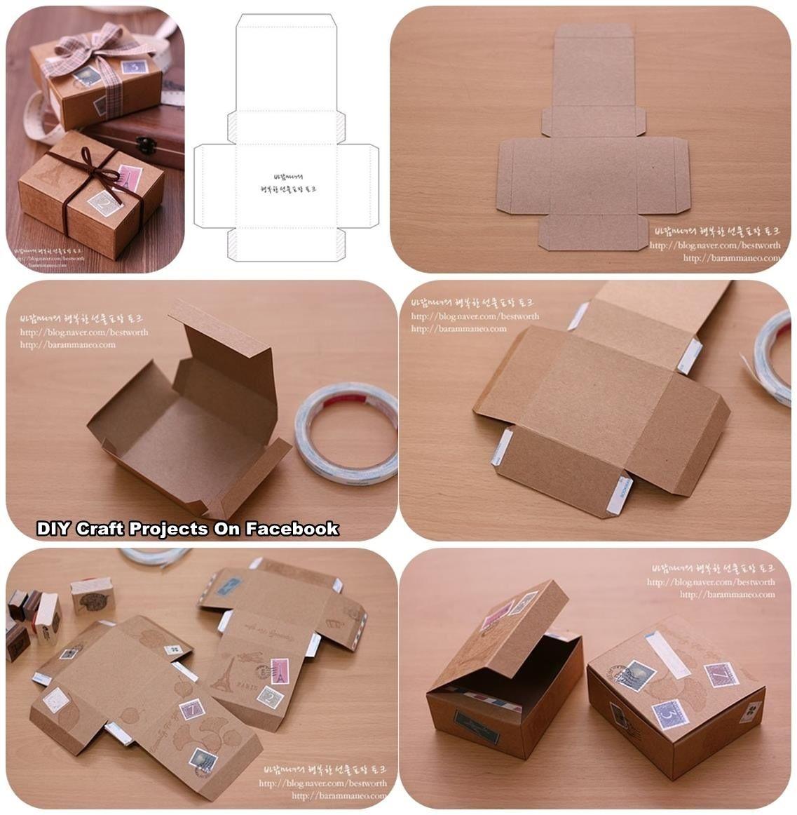 DIY Geschenkbox selbstgemacht Diy gift box, Paper box