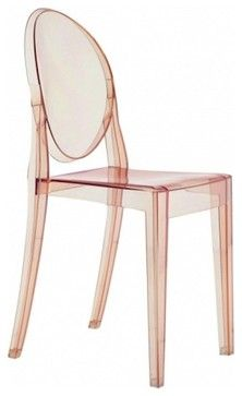 rose color ghost chairs