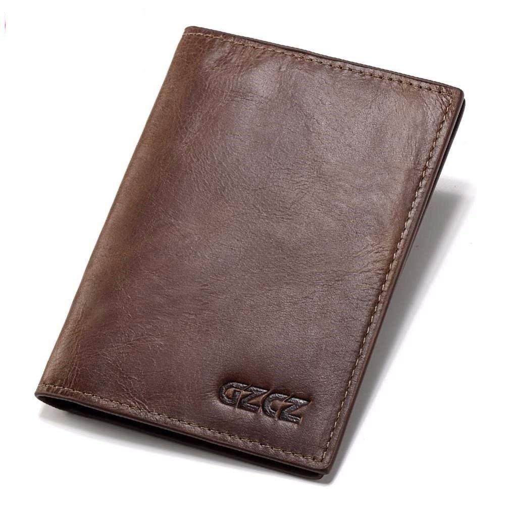 0c346f27c651 MIOHS GZCZ Genuine Leather Super Thin Men Wallet Luxury Brand ...