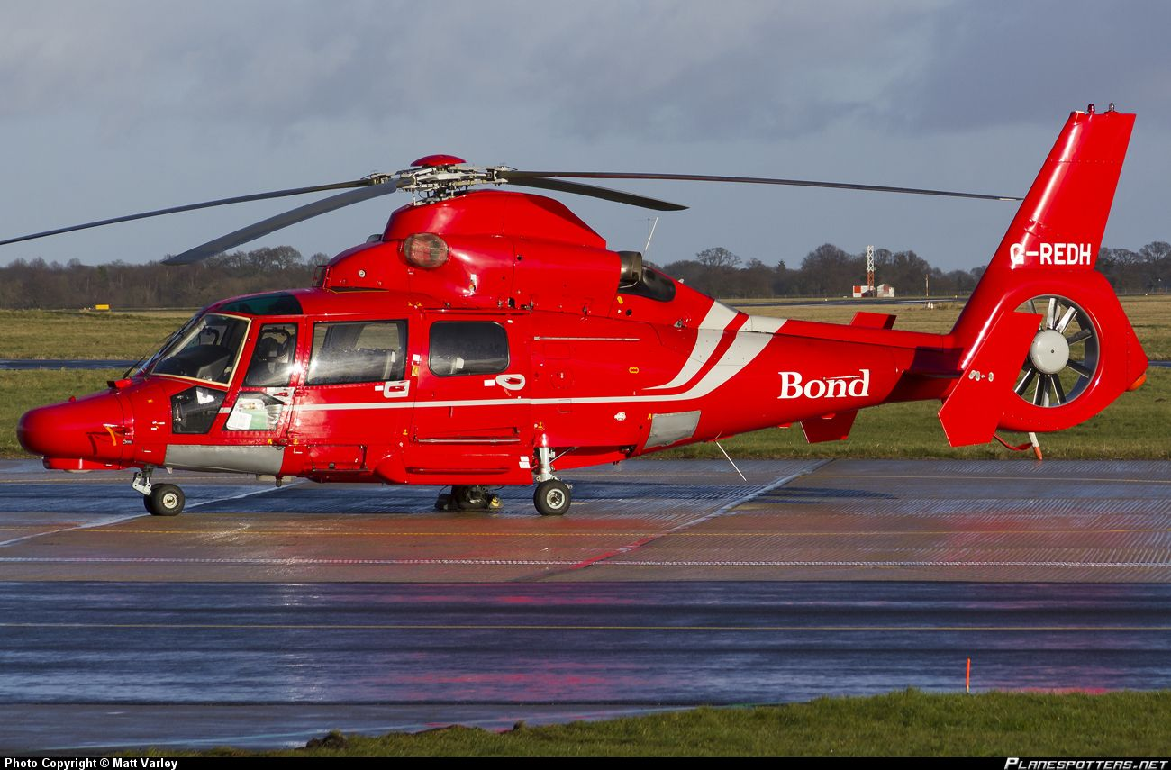 g redh bond helicopter aerospatiale as 365n3 dauphin helicopters