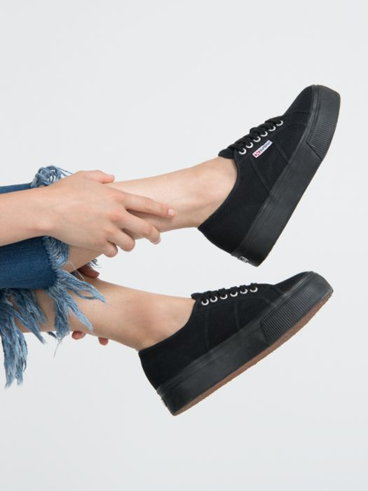 ae0f9bf1d5a06 Black #Superga Platform Trainers | Best Foot Forward | Superga ...