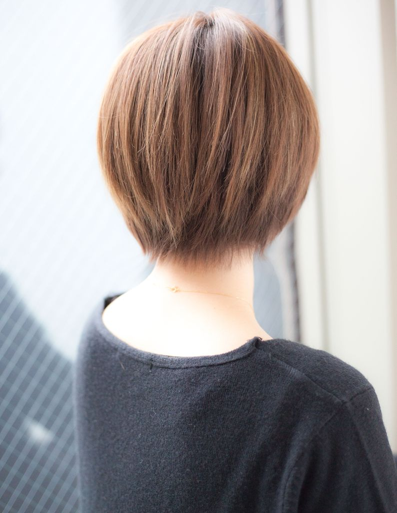 横顔美人なさらっと小顔ショート(YK−76)   ヘアカタログ・髪型・ヘアスタイル AFLOAT(アフロート)表参道・銀座・名古屋の美容室・美容院
