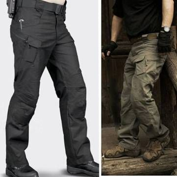 Men's Tactical Outdoor Multi Pockets Linen Cotton Military Cargo ...