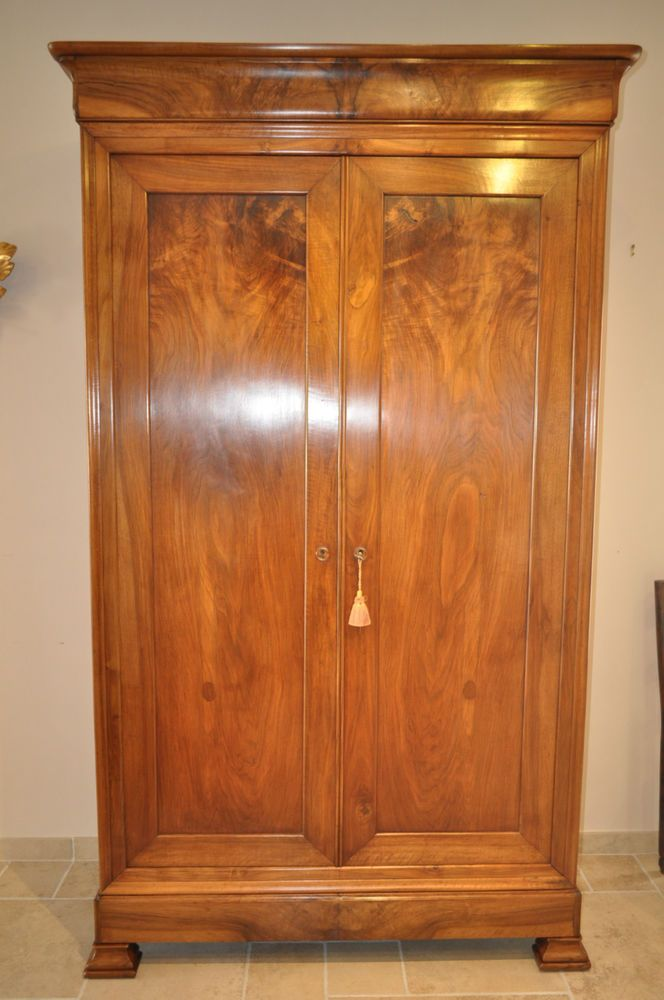 armoire ancienne louis philippe en noyer epoque 19eme siecle