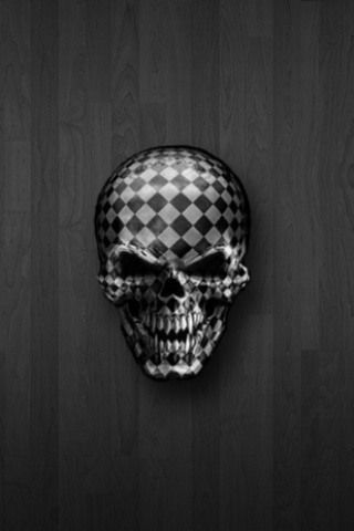 Checkered Skull Iphone Wallpaper
