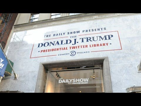 Comedy Central Unveils Trump Presidential Twitter Library Youtube