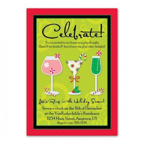 Holiday Cocktail Party Invitations    wwwpartyinvitationwording - invitation wording for candle party