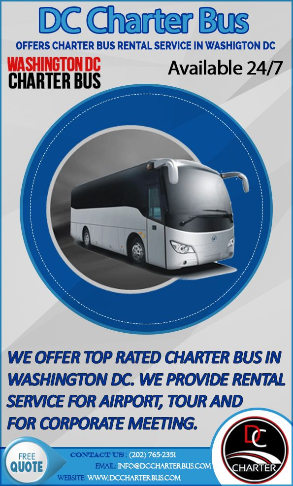 Dccharterbus Com Offer Top Rated Charter Bus In Washington Dc We