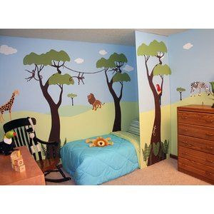 My Wonderful Walls Wild Jungle Safari Self-Adhesive Wall Stencil Kit