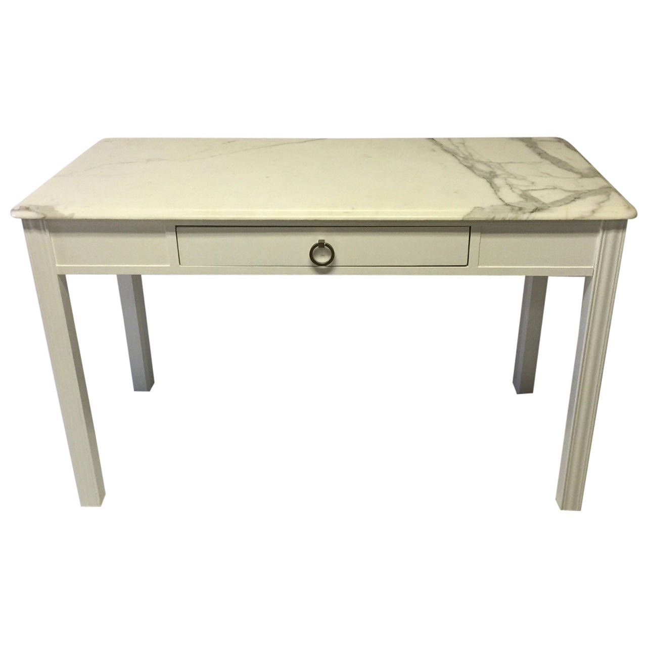 Kimball Bedroom Furniture Kimball Lacquered Desk With Carrara Marble Top Tops Marble Top