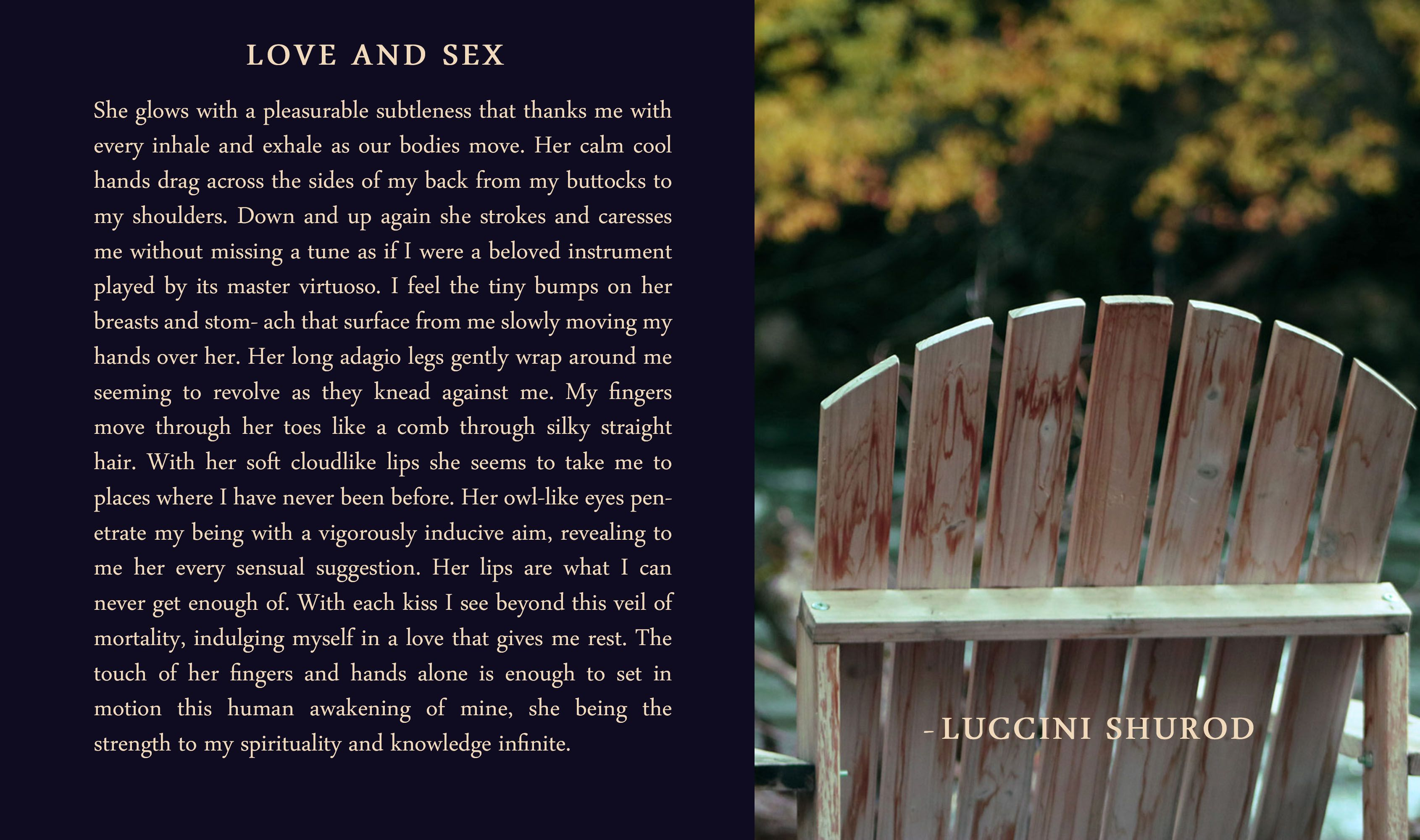 How to describe sex poetically